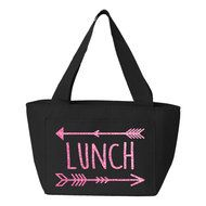 Lunch Arrows Insulated Lunch Bag (Black) Insulated Lunch Bags, Reusable Tote Bags, Arrows, Back To School, Black, Black People, Arrow, Entering School, Back To College