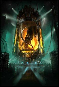 by Dennis Björk October 25 2018 at Arte Sci Fi, Sci Fi Art, Sci Fi Fantasy, Dark Fantasy, Blade Runner, Sci Fi Environment, Futuristic Art, Science Fiction Art, Fantasy Landscape