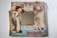 Espejo malma decorado A Ladies'Diary