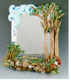 Polymer clay and mixed media artist Christi Friesen has written over a dozen instructional books on creating art. Clay Wall Art, 3d Wall Art, Mural Art, Mural Painting, Art 3d, Fabric Painting, Diy And Crafts, Arts And Crafts, Clay Art Projects