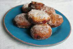 Orange Cranberry #Thanksgivukkah Jelly Doughtnuts