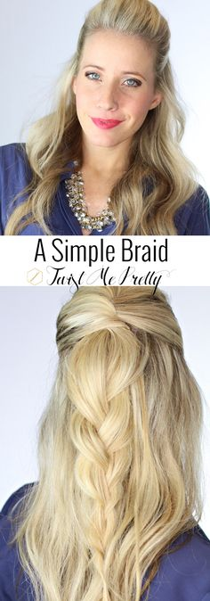 This is such an elegant hairstyle and it requires no french braiding skills! I love when the hairstyles are this pretty and this easy, don't you?! Find the tutorial at Twist Me Pretty