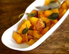 Yummy Supper: Butternut Squash roasted with Sage and Coconut