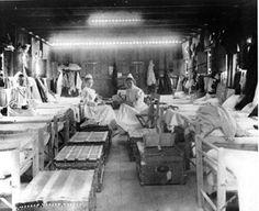 Inside a military hospital  Spanish American War, 1898