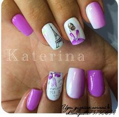 Ballerina Nails Acrylic Nail Designs Make You Elegant for New Year - Nails Art Design - Fancy Nails, Cute Nails, Pretty Nails, Fabulous Nails, Gorgeous Nails, Acrylic Nail Designs, Nail Art Designs, Gel Nails, Acrylic Nails