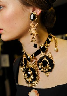 Accessories backstage at Dolce & Gabbana, Fall 2012  (Source: Vogue)