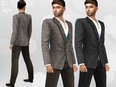 Smart Fashion VI trousers and jacket by Zuckerschnute20 at TSR via Sims 4 Updates