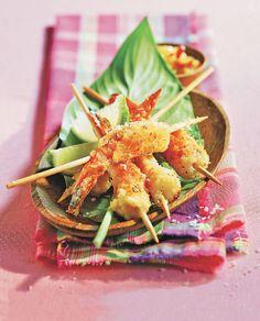 Pinchitos de langostino con coco rallado - Foto 1