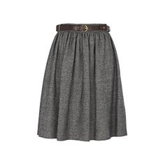 River Island Grey tweed a line skirt with belt ($15) ❤ liked on Polyvore featuring skirts, bottoms, grey, gonne, gray skirt, knee length a line skirt, tweed skirt, grey skirt and river island