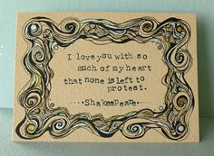 Original Illustration, Shakespeare Quote - Much Ado About Nothing, Literature Art, Love Quote Art on Etsy, $87.37 CAD