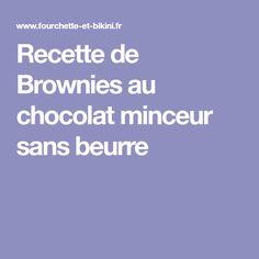 Recette de Brownies au chocolat minceur sans beurre