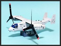 Papercraftsquare. AWESOME website with many great download links. Like this plane:  Bell Boeing Osprey MV-22 Free Aircraft Paper Model Download