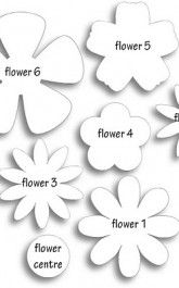 Different flower patterns, maybe for making flower pins? Different flower patterns, maybe for making flower pins? Giant Paper Flowers, Diy Flowers, Fabric Flowers, Flower Paper, Scrapbook Paper Flowers, Wafer Paper Flowers, Paper Flower Tutorial, Spring Flowers, Diy Paper
