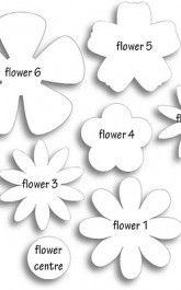 Moldes de flores em feltro para decoração