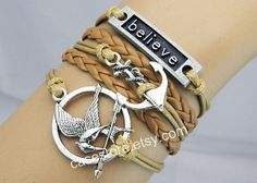 game bracelet  believe braceletAnchor by charmcover on Etsy, $8.99