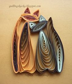 Fairy tale about quilling: Cats unearthly beauty!