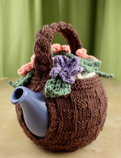 Yarnspirations.com - Lily Flower Basket Tea Cozy - Patterns  | Yarnspirations