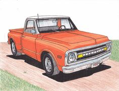 Chevy Truck Drawings | 1971 Chevy Truck Drawing