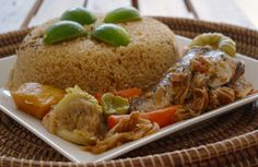 my favorite Senegalese dish: fish and rice.  In.cre.dible.