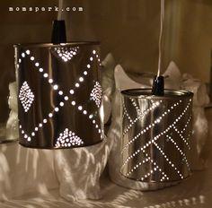 DIY Quart Tin Can Punch Lanterns | Mom Spark - A Trendy Blog for ...