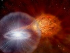 In mere days, the white dwarf can increase it's brightness by 100000 times.