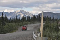 One of the unpaved roads into Denali National Park