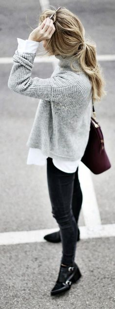 Layered winter look