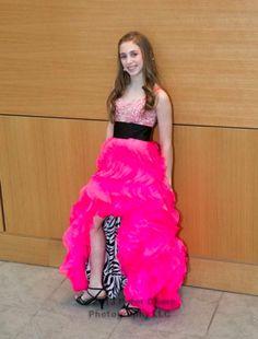 A Bat Mitzvah dress from Designing Dreams Neon Dresses, Cute Prom Dresses, Sweet 16 Dresses, Grad Dresses, Pretty Dresses, Beautiful Dresses, Birthday Dresses, Girls Short Dresses, Dresses For Tweens