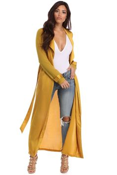 Tease what's underneath in this sheer duster. It features a draped open front, long cuffed sleeves, a sheer, lightweight fabric and a satin Trendy Outfits, Cute Outfits, Fashion Outfits, Fashion Trends, Fashion Ideas, Holiday Fashion, Spring Fashion, Satin Duster, Summer Coats