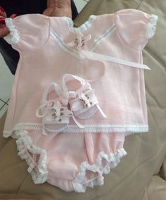 Pink Baby Girl Dress in Estopilla and Lace by EstherCollection, $90.00