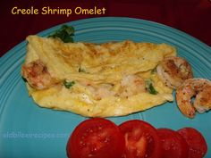 CREOLE SHRIMP OMELET Recipe:  https://www.facebook.com/notes/old-biloxi-recipes-by-sonya-fountain-miller/creole-shrimp-omelet-submitted-by-sonya-fountain-miller/10153885039363914