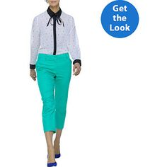 Wear to Work: Women's Button Up Top and Career Ankle Pants #fittingroomspring
