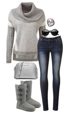 """""""Untitled #3306"""" by meandelstyle ❤ liked on Polyvore featuring UGG Australia, MICHAEL Michael Kors and Arya Esha"""