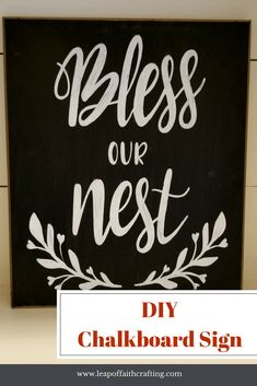 Easy tutorial on how to make a DIY chalkboard sign with a Cricut and chalk markers! Video tutorial too!