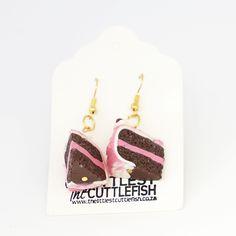 Chocolate Cake Earrings Chocolate Cake, Yummy Treats, Polymer Clay, Crochet Earrings, Drop Earrings, Handmade, Accessories, Jewelry, Products