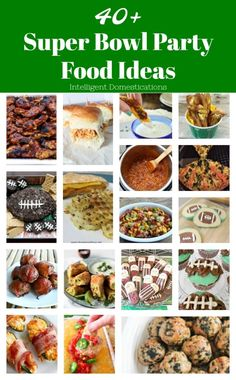 Our list of 40+ football party food recipes is all you need to plan your Super Bowl party this year. You will find snacks, appetizers, meats, sliders and even desserts everyone loves. Let's get this party started. #footballfood #superbowl #partyrecipes #appetizers Bbq Appetizers, Best Party Appetizers, Appetizer Recipes, Football Party Foods, Football Food, Fox Football, Football Parties, Alabama Football, Football Season