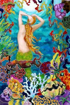 Mermaid's Back Artwork: Beach House Decor, Coastal Decor, Nautical Decor, Coastal Living Boutique, Tropical Decor