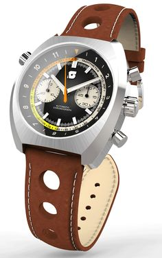 Straton Curve-Chrono watch and Leather driving gloves by Straton Watch Co. —Kickstarter
