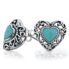Bling Jewelry 925 Silver Antique Style Turquoise Heart Stud Earrings Heart Jewelry, Heart Earrings, Bling Jewelry, Stud Earrings, Jewellery, Sterling Silver Earrings Studs, Turquoise Earrings, 925 Silver, Pearl Pendant