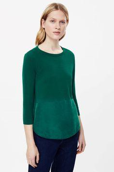 COS | Silk panel cotton knit jumper
