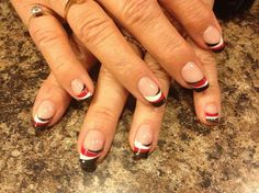 Black, red, and white tips