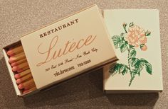 RESTAURANT Lutece, NYC. Circa 1987.Circa 1999. Star Chef #AndreSoltner USA produced Universal Match American Ace Rectangular Deep 34 stick #matchbox. Pic. by Joe Danon. To order your business' own branded #matchboxes call 800.605.7331 or goto: www.GetMatches.com