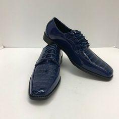Bolano ANDRIAS-011 Mens New Edition Grey Gray /& White Faux Crocodile Dress Shoes
