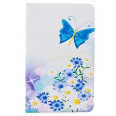 High quality Fashion painting Book Case Cover For Samsung Galaxy Tab T580 10.1 cover casesBlue Butterfly
