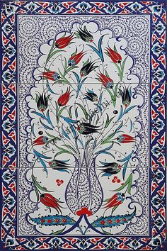 Creative Tile Arts With Turkish Motifs Tile Murals, Tile Art, Mosaic Art, Mosaic Tiles, Turkish Tiles, Turkish Art, Portuguese Tiles, Moroccan Tiles, Mosaic Pictures