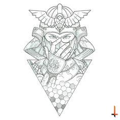 In the name of the samurai #tattoo #tattoosketch #sketch #samurai #geometric…