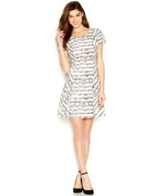 I can't believe I own this dress! I love it! Thank you, cuñis!!!! Maison Jules Short-Sleeve Printed A-Line Dress  | macys.com