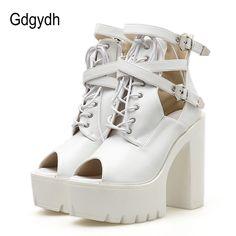 Gdgydh 2018 New  Spring  Platform  Heels  Autumn  Women  Pumps   0419dd6c9