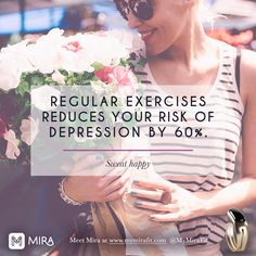 The next time you need workout motivation, remember that exercise can reduce your risk of depression by 60%. How's that for healthy fitspo?