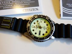Citizen Automatic Diver. Love the white dial.